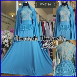 Gamis Brokat Pesta Muslimah Brocade Umbrella-1