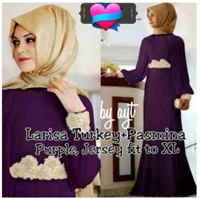 Gamis Pesta Kombi Renda Bordir