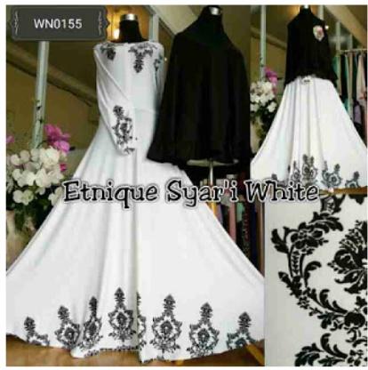 Baju Gamis Batik Cantik Etnique Syar'i