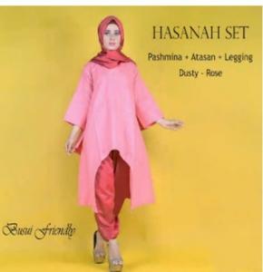 Busana Muslim Modern Online Hasana Set