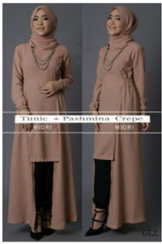 Busana Muslim Trendy Model Tunik Miori