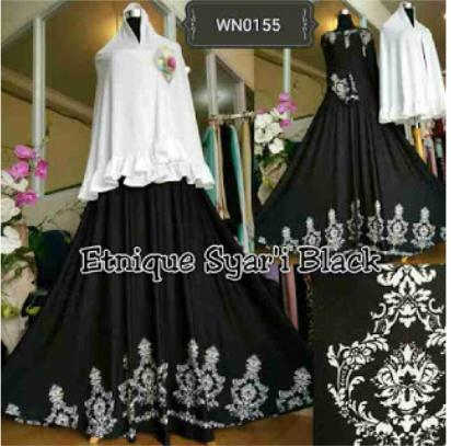 Gamis Batik Cantik Etnique Syar'i
