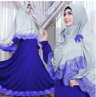 Gamis Syar'i Cantik Bahan Jersey Kimora Syari