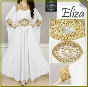 Busana Muslim Pesta Dengan Hiasan Payet Eliza