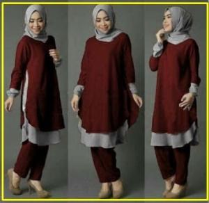 Busana Muslim Modern Cantik Anggun Kioka set-1