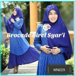 Busana Muslim Pesta Terbaru Cantik Novy Brocade Syar'i-2