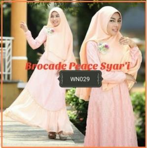 Busana Muslim Pesta Terbaru Cantik Novy Brocade Syar'i-3