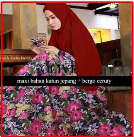 Busana Muslim Terbaru bahan Katun Olive Dress