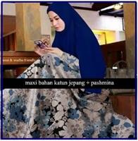 Busana Muslim terbaruBahan Katun Olive Dress-1