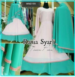 Gamis Cantik Syar'i Terbaru Model Busui Rania Syar'i-2