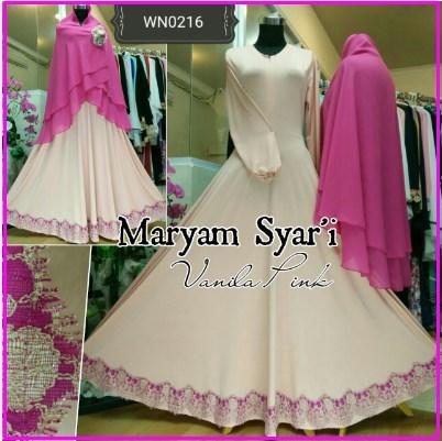Baju Gamis Terbaru Kombinasi Renda Maryam Syar 39 Itoko