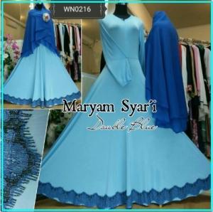 Baju Gamis Terbaru Kombinasi Renda Maryam Syar'i-6