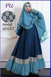 Baju Gamis Terbaru Murah Gucci Syar'i-3