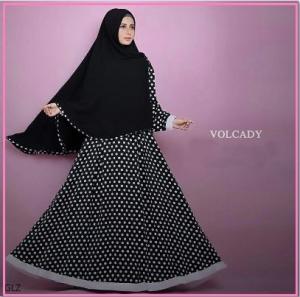 Busana Muslim Terbaru Bahan Woolpeach volcady syar'i-1