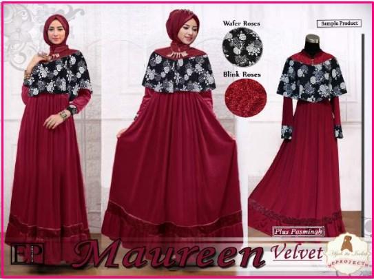 Gamis Modern dan Elegan Untuk LEbaran Maureen