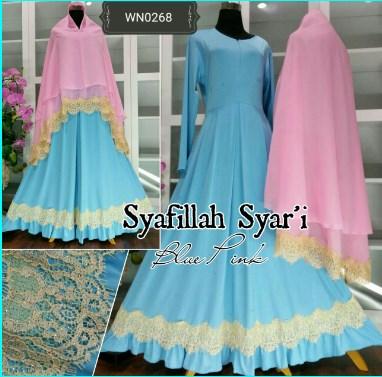 Gamis Muslimah Bahan Jersey Terbaru Syafillah Syar'i (2)