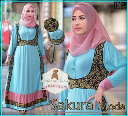 Busana Muslim Modern Cantik Bahan Jersey Sakura Moda