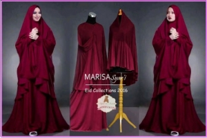 Gamis Untuk Lebaran Bahan Jersey Marisa Syar'i