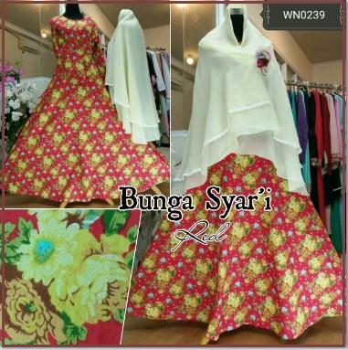 Jual Baju Muslim Bunga Syar'i-2