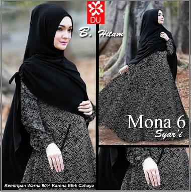 Baju Gamis Cantik dan Mewah Mona 6 Syar'i -1