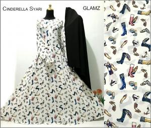 Baju Gamis Terbaru Bahan Crepe Ciderella Syar'i-1