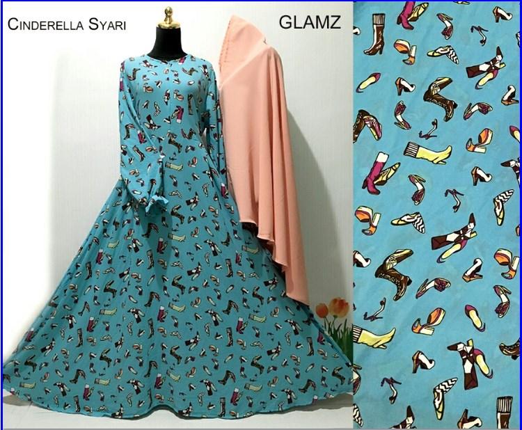 Baju Gamis Terbaru Bahan Crepe Ciderella Syar'i