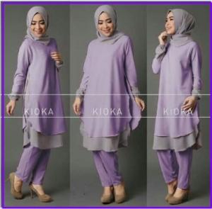 Busana Muslim Modern CAntik-1 Kioka Set