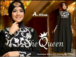 Busana Muslim Pesta Mewah-2 She Queen-1