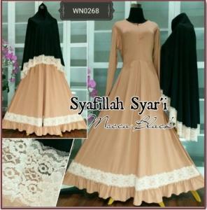 Gamis Muslimah Bahan Jersey Terbaru Syafillah Syar'i -1