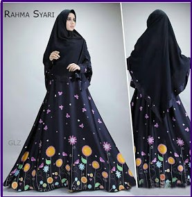 Baju Gamis Cantik Bahan Maxmara Rahma Syar'i-3