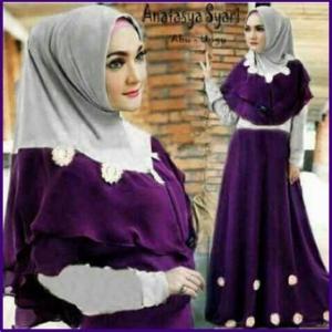 Baju Gamis Cantik Dan Anggun Bahan Jersey Anastasya Syar'i-2