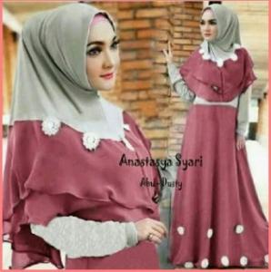 Baju Gamis Cantik Dan Anggun Bahan Jersey Anastasya Syar'i