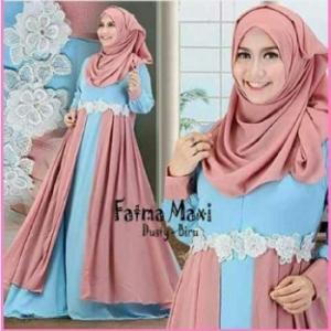 Baju Gamis Cantik dari Bahan Jersey Fatma Maxi-1