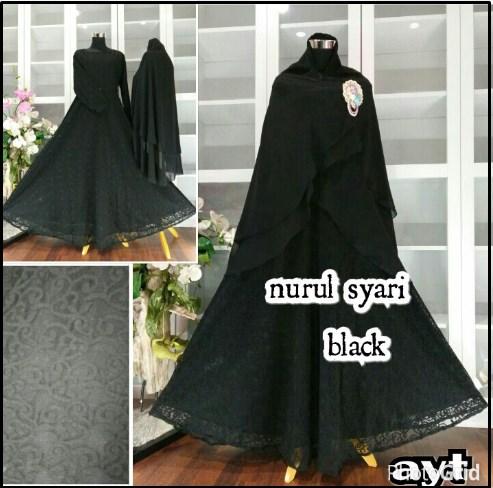 Baju Gamis Pesta CAntik Bahan Brukat Nurul Syar'i-1