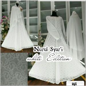 Baju Gamis Pesta Cantik Bahan Brukat Nurul Syar'i