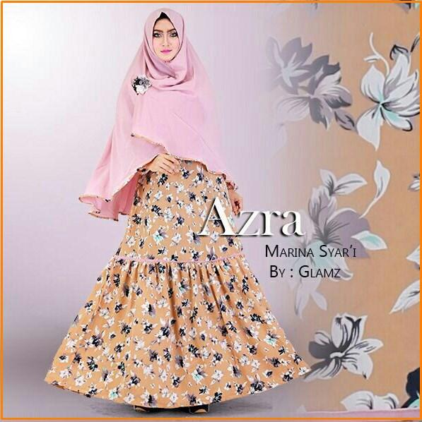 Baju Gamis Terbaru bahan wolfis Azra Marina