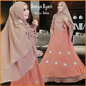 Gamis Cantik Terbaru Elegan Sonya Syar'i-2