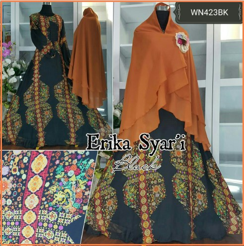 Baju Gamis Pesta Anggun Erika Syar'i-1