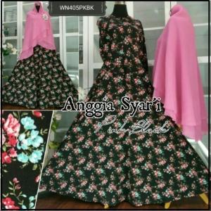 Baju Gamis Syar'i Online Bahan Jersey Anggia Syar'i-1