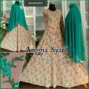 Baju Gamis Syar'i Online Bahan Jersey Anggia Syar'i-2