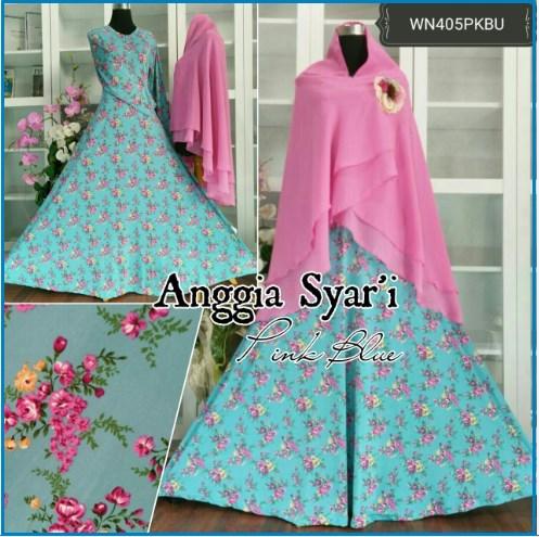 Baju Gamis Syar'i Online Bahan Jersey Anggia Syar'i-3