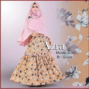 Baju Gamis Terbaru Cantik Bahan wolfis Azra Marina Syar'i