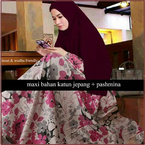 Busana Muslim Model Terbaru Bahan Katun -1 Magda