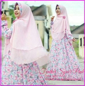 Gamis Busui Bahan Baby Touch Feather Syar'i-1