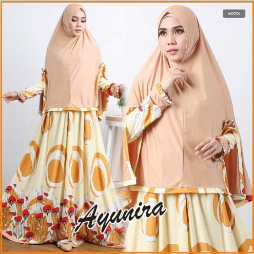 Baju Muslim Wanita Bahan Waffle Ayunira Syar'i