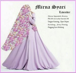 Baju Muslim Wanita Cantik Terbaru Mirna Syar'i-1