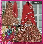 Baju Muslim Wanita Modern Bahan Prisket Syar'i-2