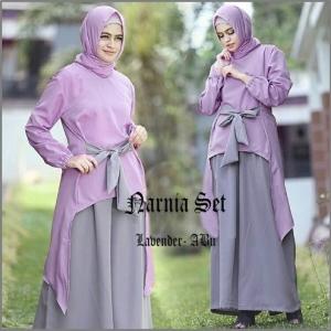 Busana Muslim Modern Model Kulot Narnia Set-2