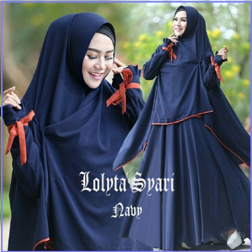 Gamis Murah Terbaru Bahan Spandex Lolita Syar'i-5