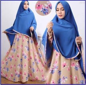 Gamis Muslimah Cantik Bahan Wolfis Nadia-1